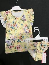 New Seafolly Girls Rashie Set Yellow Floral Size 2