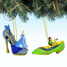 Cinderella and Mulan Issue 23 Disney Once Upon a Slipper Ornament Set of 2