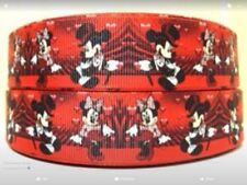 Micky Minnie Mouse 25mm Grosgrain Ribbon 3 Meter Length Hair Bows Craft