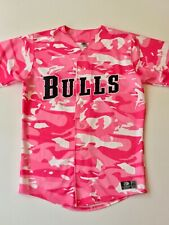 Durham Bulls Stitched AUTHENTIC Vintage Pink Breast Cancer Jersey Size 46