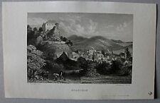 Burg Bilstein in Lennestadt. Stahlstich von A.H.Payne n. Schlickum 1842