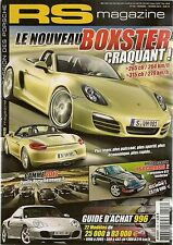 RS MAGAZINE 128 DOSSIER PORSCHE 996 TOUS TYPES 964 C2 BOXSTER 981 GAMME 2012