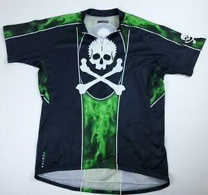 XXL MEN'S PRIMAL WEAR Skull Crossbones Cycling Jersey Short Sleeve