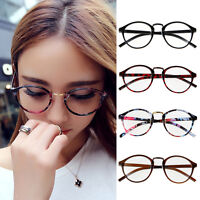 Retro Vintage Round Circle Frame Clear Lens Eyeglasses Eye Glasses Fashion New