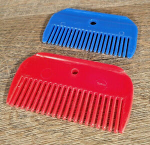 Horse Mane Comb - Plastic 2pk Red and BLue