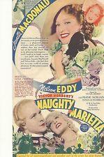 NAUGHTY MARIETTA(1935)JEANETTE MACDONALD ORIGINAL PRESSBOOK HERALD NM!