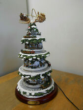 "Bradford Exchange Thomas Kinkade ""Wonderland Express"" Tabletop Christmas Tree"