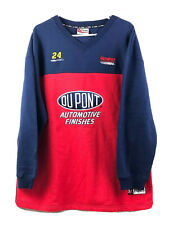 Vtg Chase Authentics NASCAR Jeff Gordon Sweater Mens XL Red Blue Pullover New