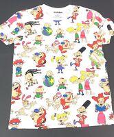 NWT Nickelodeon 2019 All Over Print Tee Mens M Vtg 90s Animation T Shirt Cartoon
