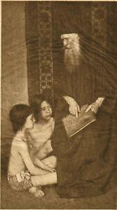 Man With Children on Tissue 1905 Rubaiyat Adelaide Hanscom