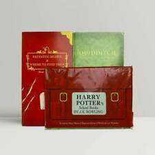 J.K. Rowling – Harry Potters School Books - 2 Books In Rare Plastic Bag - 1st Ed