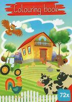 Colouring Book-Malbuch für Kinder-Bauernhof, Tiere und viele andere Motive #505
