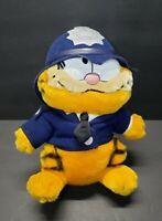 "Dakin & Co Garfield 1981 Police Officer Plush Stuffed Animal 9.75"" Tall Vintage"