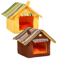 Pet Dog House Soft Igloo Beds Cave Cat Puppy Bed Doggy Warm Cushion 3 Size