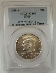 1998-S 50c SMS Kennedy Half Dollar PCGS MS69 3836