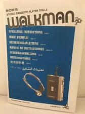 Walkman Sony Stereo Cassette Player TPS-L2 Instruction Manual