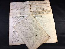 OLD MANUSCRIPTS 1708-1712