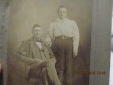 Vtg. Cabinet Photo Jonathan & Laura Scott Stroup Albion IL Scottsville ca. 1900