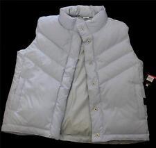 Gap Kids Light Blue & Gingham Checks Puffy Reversible Down Vest XL - 12 NWT DISC