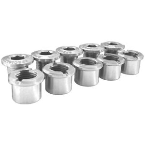 Specialites TA Double Alloy Bicycle Cycle Bike Chainring Bolts Silver