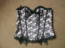 Ladies pink and black corset top size 2XL / uk size 16 ?