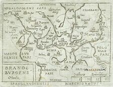 1667 Map Brandenburg BERLIN - Marchetti Ortelius - Poland Szczecin Pomerania