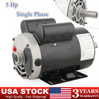 """5 HP Air Compressor Duty Electric Motor 56 Frame 3450 RPM Single Phase 7/8"""""""