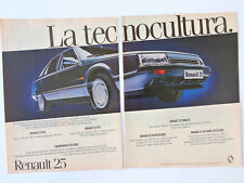 RENAULT 25 Advert / Publicidad Publicite Voiture R25 GTS GTX Turbo V6 Spanish Ad