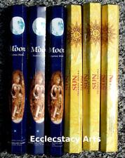 Kamini Sun-Moon Incense Stick Sampler 6 x 20 stick = 120 Sticks{:-)