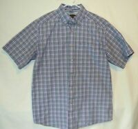 Ariat Pro Series Men's Western Button Down Shirt Plaid Short Sleeve Medium