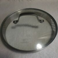 """Calphalon Glass Stainless Steel Replacement Strainer Lid 8 1/2"""" INSIDE DIAMETER"""
