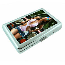 Ohio Pin Up Girls D4 Silver Metal Cigarette Case RFID Protection Wallet