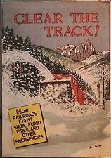 CLEAR THE TRACKS AMERICAN RAILROAD RARE GIVEAWAY PROMO COMIC 1956 VFNM