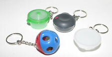 TUPPERWARE Rare Set 4 Keychains Ice Prism Stuffables Shape O Toy Heat N Serve
