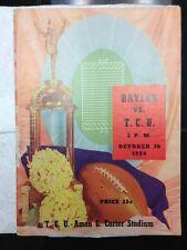 1954 Baylor vs T.C.U October 30 1954 Program