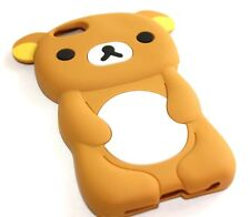 For iPhone SE / 5C / 5S - SOFT SILICONE RUBBER SKIN CASE COVER BROWN TEDDY BEAR