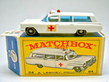 "Matchbox RW 54B Cadillac Ambulance top in ""E1"" Box"
