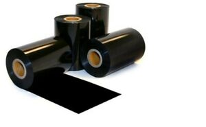 130mm x 300m Black Thermal Transfer Wax Ribbon Box of 12 Outside Wound for Zebra