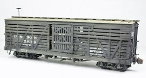 SAN JUAN CAR ON3 D&RGW 30' STOCK CAR Model Railroad Unpaintd Plastic Kit SJCK106