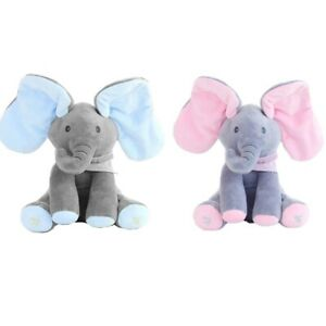 Peekaboo Cuddly Interactive Singing Elephant with Flapping Ears Animal Toy