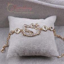 18K Gold Rose Plated Hello Kitty Bracelet B016