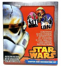 STAR WARS Easter Egg Decorating Kit - Stickers Wrappits Dye Stands Dipper