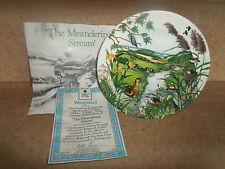 The Meandering Stream By Colin Newman ~ Josiah Wedgwood Plate + Certificate
