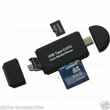 TYPE-C Micro USB OTG To USB 2.0 Adapter SD/Micro SD Card Reader For Cell Phone's