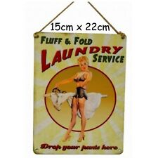 Fluff & Fold Laundry Funny Small Steel Sign 200mm X 150mm OG