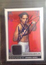 Amanda Nunes Signed Auto upper Deck Goudey W/ Event Used Material  MMA UFC CHAMP