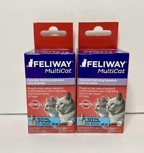 (LOT OF 2) Feliway D89420B Multicat 48ml Diffuser Refill