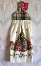 Christmas Tree Rocking Horse Terry Tie Towel Kay Dee Snowy Night pattern