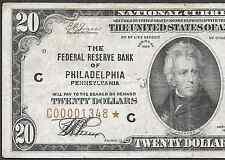 """1929 $20 FRBN """"PHILADELPHIA""""  ❀❀ STAR ❀❀"""