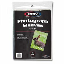 1500 BCW 6x8 Photo Soft Poly Sleeves Acid Free Print Holder Archival